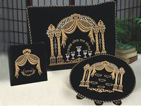 3 Piece velvet Pesach Set