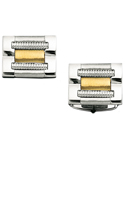 Sterling Silver and 14K Gold Rectangle Cufflinks