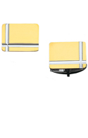 Bonded Sterling Silver and 14K Gold Rectangle Cufflinks-86378