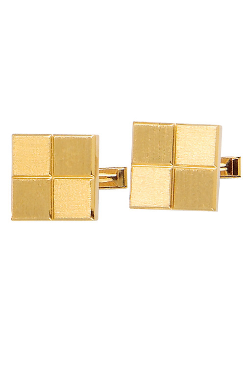Yellow Gold Square Cuff Links