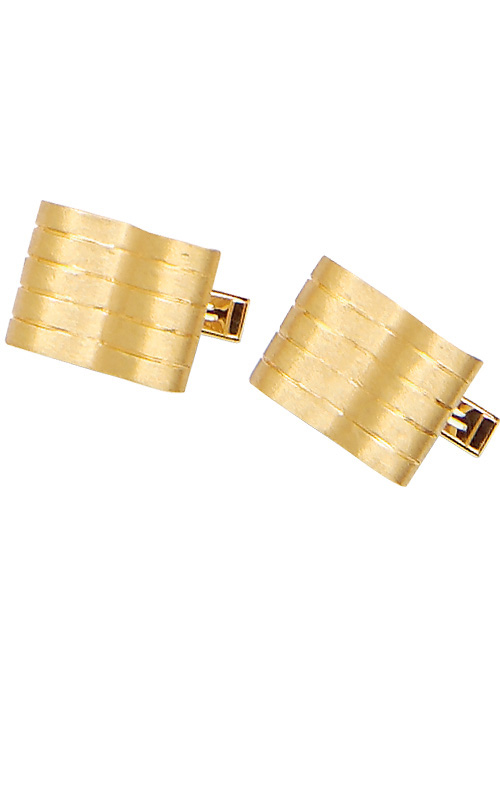 14K Yellow Gold Wave Cuff Links