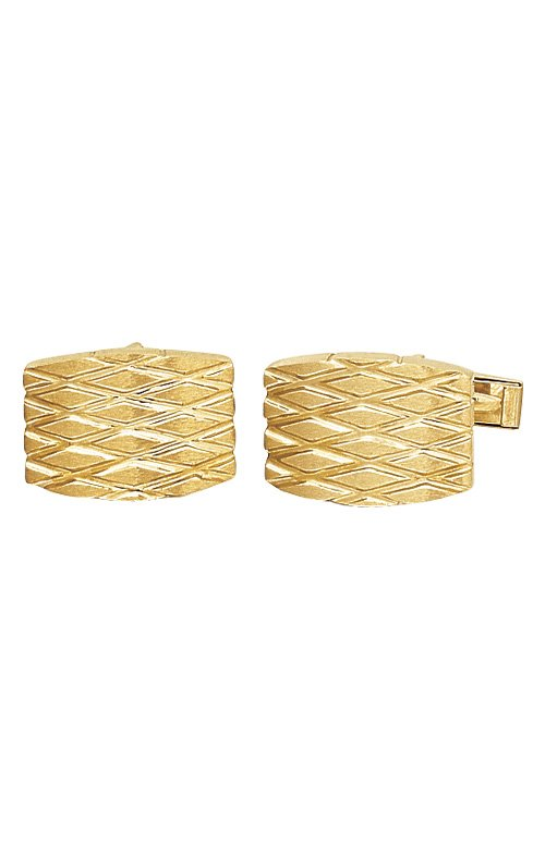14K Gold Quilted Cuff links - #86692
