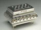 Sterling Silver Flower and Rows Etrog Box