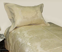 Studs Brown Brocade Linen Set - Tapestry 600-Thread Count