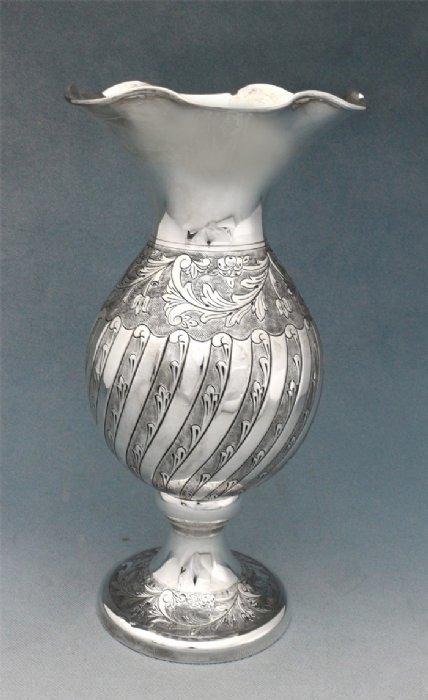 Itailian Passim Leaves Sterling Silver Vase