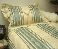 Blue Brocade Linen Set - Tapestry 500-Thread Count