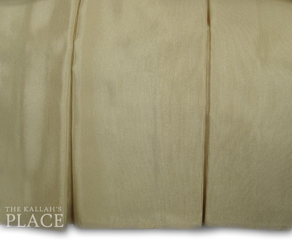 "5"" Box Pleats Style Dust Ruffle Set - Bengaline Sand"