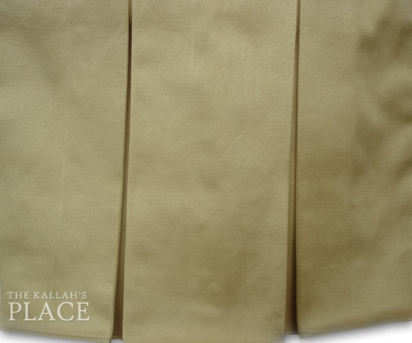 "5"" Box Pleats Style Dust Ruffle Set - Sateen Beige"