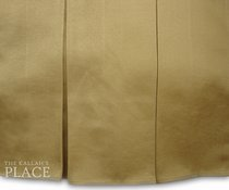 "5"" Box Pleats Style Dust Ruffle Set - Sateen Gold"