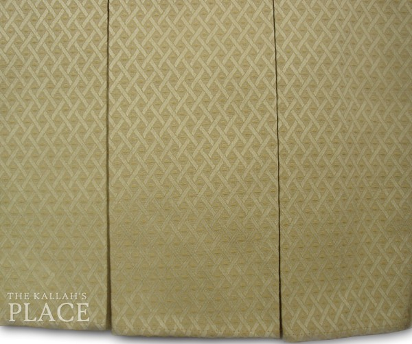 "5"" Box Pleats Style Dust Ruffle Set - Venice Trellis Ivory"