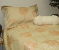 Gold Tulip Brocade Linen Set - Tapestry 600-Thread Count