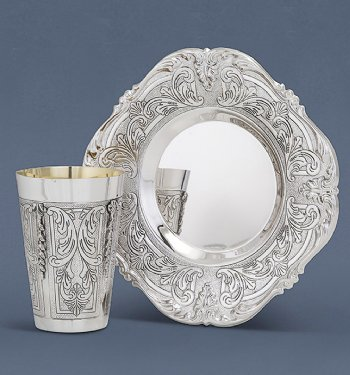 Bugatti Light Sterling Silver Kiddush Cup Set