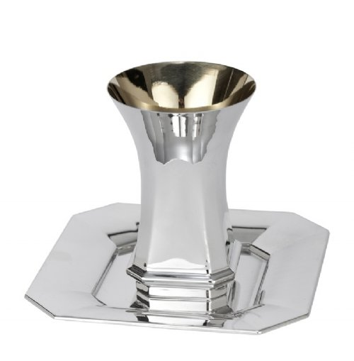 Venus Sterling Silver Kiddush Cup Set