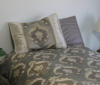 Charlotte Grey Brocade Linen Set - Tapestry 600-Thread Count