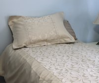 Crown Taupe Brocade Linen Set - Tapestry 600-Thread Count