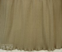 Crystal Pleated Style Dust Ruffle Set - Bengaline Sand