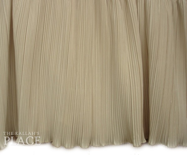 Crystal Pleated Style Dust Ruffle Set - Bone