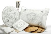 Crystal Deluxe 4 Piece Pesach Set with Engraved Mirror Elements