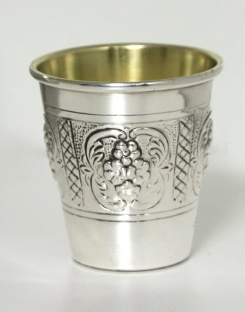 Hadad Sterling Silver Liquor Cup Set - 6 Cups and Tray