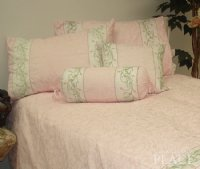Damask Pink Linen Set - Poly/Cotton 260-Thread Count