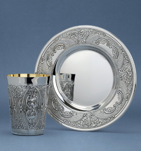 Dor Light Sterling Silver Kiddush Cup Set
