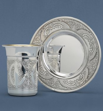 Dor Sterling Silver Kiddush Cup Set