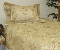 Gold Link Brocade Linen Set - Tapestry 600-Thread Count