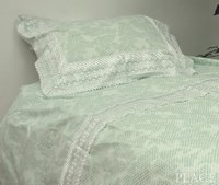 Checkerboard Green Linen Set - Poly/Cotton 220-Thread Count