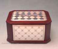 Wood and Silver Esrog Box New Diamond Flower - Hadad