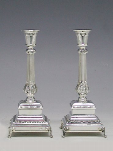 Hadad Bologna Sterling Silver Candlesticks - 7""