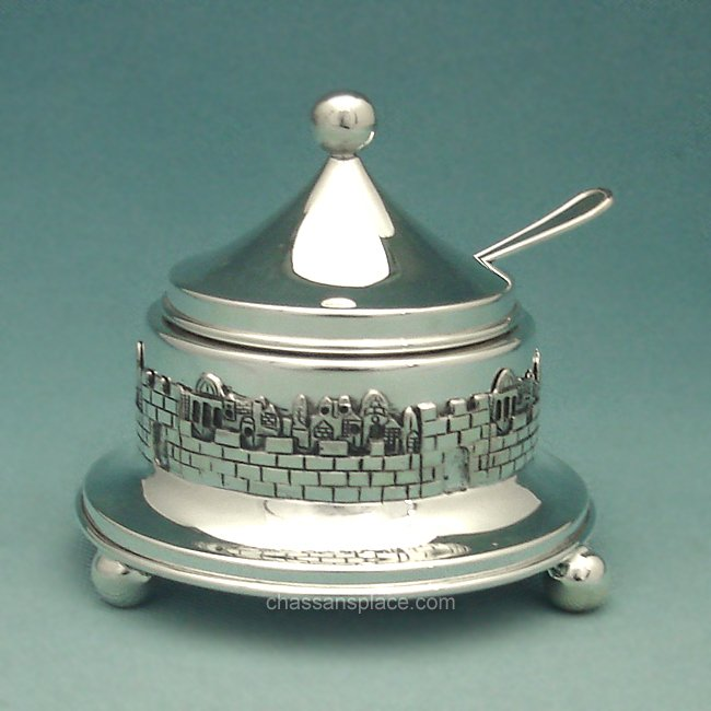 Jerusalem Silver Honey Dish