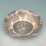 Italian Grapes and Leaves Sterling Silver Bowl