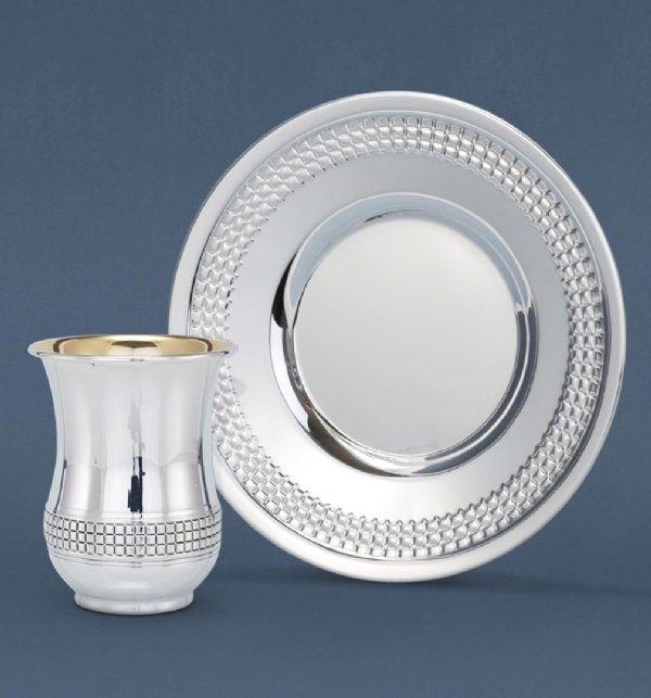 Kubiot Rola Sterling Silver Kiddush Cup Set