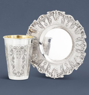 Livorno Sterling Silver Kiddush Cup Set