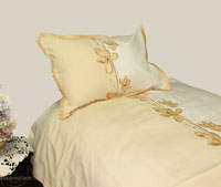 Elegant Flower Pique 400 tc Egyptian cotton Linen Set