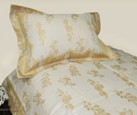Luxury Gold Brocade Linen Set - Tapestry 600-Thread Count