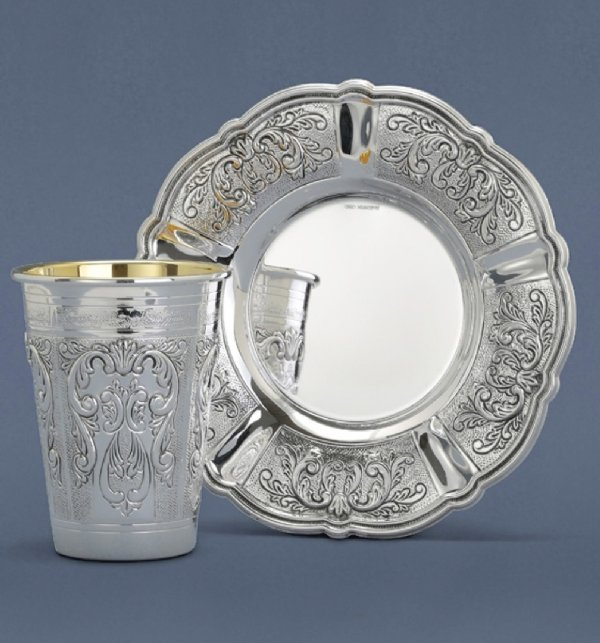 Martel Light Sterling Silver Kiddush Cup Set