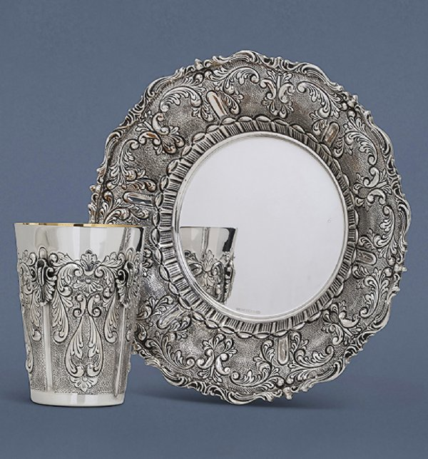 Martel Sterling Silver Kiddush Cup Set