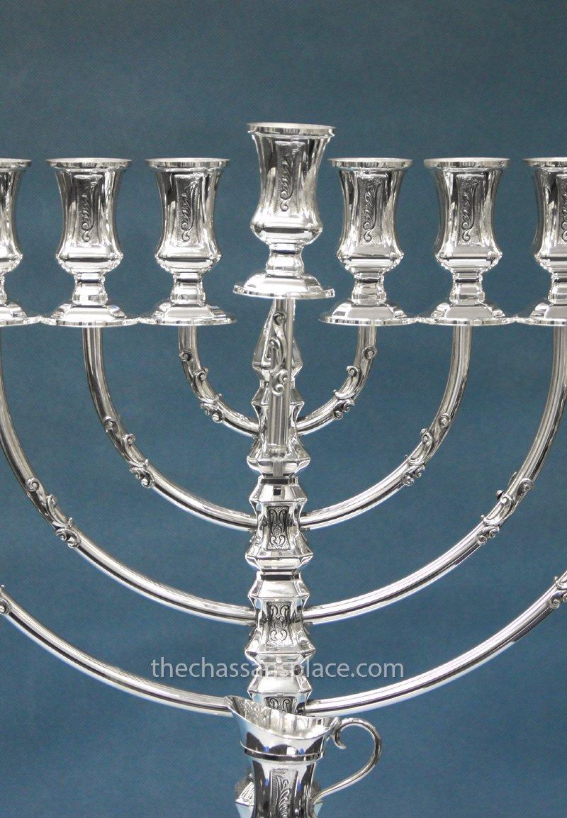 Hazorfim Octagon Silver Menorah 12103 1185 The Chassan
