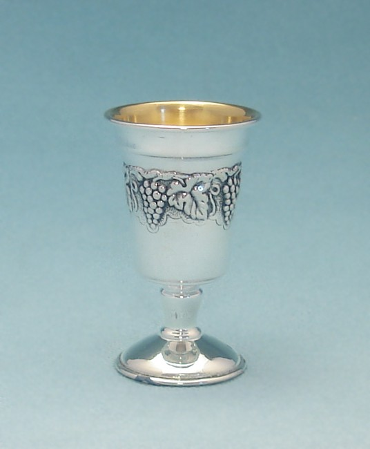 Grapes Sterling Silver Liqueur Cup
