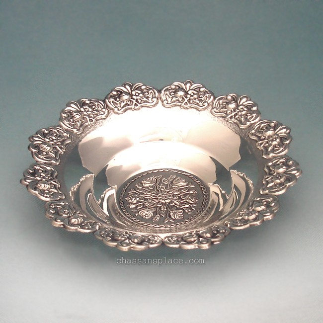 Roses Sterling Silver Medium Bowl