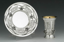 Imperium Sterling Silver Kiddush Cup Set - Hadad