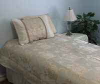 Palace Beige Brocade Linen Set - Tapestry 600-Thread Count