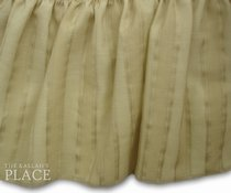 Sheer Style Dust Ruffle Set - Monterey Buff