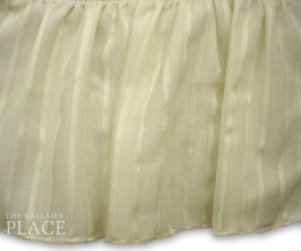 Sheer Style Dust Ruffle Set - Monterey Sand